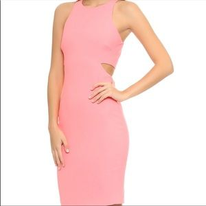 Elizabeth and James pink cutout fitted dress sz2